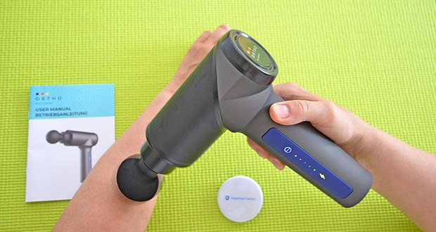 Orthomechanik OrthoGun 2.0 Massagepistole im Test - mit innovativer UltraSilent-Technologie: Geräuschpegel < 50 dB