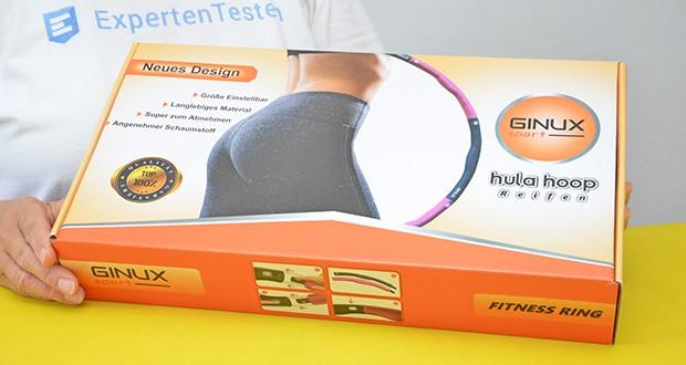 GINUX Hula Hoop Reifen im Test - schöne Hula Hoop Verpackung, ideal zum Verschenken