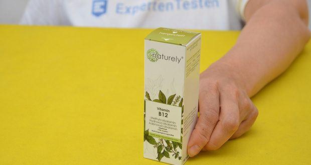 Naturely Vitamin B12 Tropfen im Test - beinhalten 200µg Vitamin B12 pro Tropfen