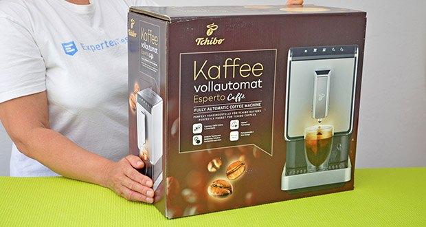 Tchibo Kaffeevollautomat Esperto Caffè im Test - Zubereitung von Espresso & Caffè Crema mit Doppio Funktion (2 Brühungen nacheinander)