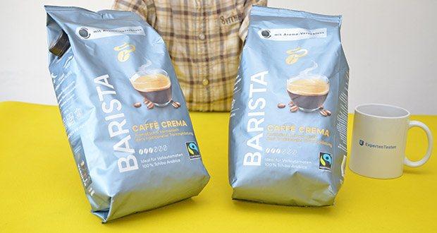 Tchibo BARISTA Caffè Crema Ganze Bohne 1 kg im Test - gleiche Qualität, gleiche Röstung, gleicher Geschmack, aber ein neues, edles Design