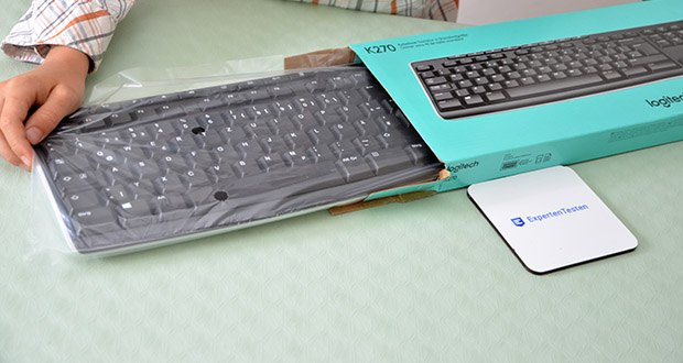 Logitech K270 Kabellose Tastatur im Test - Logitech Advanced 2,4-GHz-Technologie