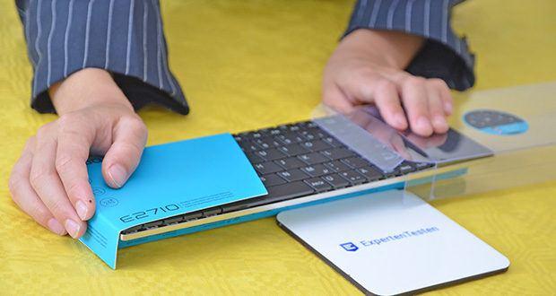 Rapoo E2710 kabellose Tastatur im Test - Systemanforderungen: Windows XP/Vista/7/8/10, USB-Anschluss