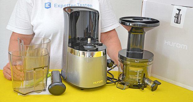 Hurom Slow Juicer S13 im Test - durch die Technologie ganz ohne Reibungswärme erhalten Sie Saft, der so viele Nährstoffe wie möglich enthält
