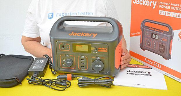 Jackery Tragbare Powerstation Explorer 500 im Test - die hochwertige Lithium-Ionen-Batterie mit langer Lebensdauer