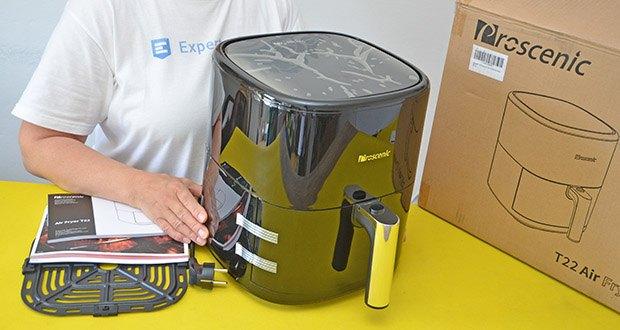 Proscenic T22 Heißluftfritteuse im Test - schnell und einfach zu bedienen, vollständig funktionsfähig