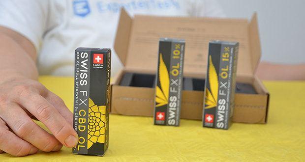 SWISS FX CBD Öl Set 5/10/15% im Test - Set erhält 3x 10ml Flaschen mit 5,10 und 15%