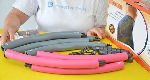 GINUX Hula Hoop Reifen im Test - der Schaum ist weich und hautfreundlich