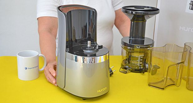 Hurom Slow Juicer S13 im Test - durch das einfache und schlanke Design, das in jede Küchenecke passt, steht Ihnen Ihr Entsafter auch bei wenig Platz jederzeit zur Verfügung