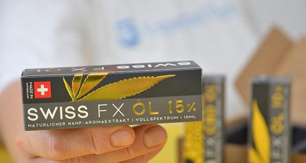 SWISS FX CBD Öl Set 5/10/15% im Test - 100% natürliche Zutaten ohne Farbstoffe und Konservierungsmittel