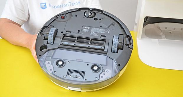 Yeedi Mop Station Roboter-Mopp im Test - der eingebaute 5200-mAh-Akku sorgt für eine Laufzeit von 180 Minuten mit einer einzigen Ladung