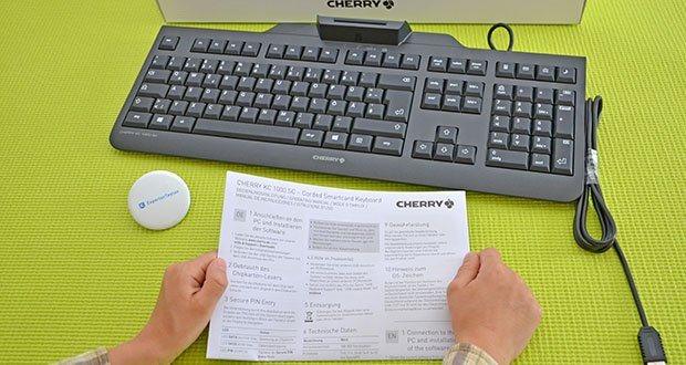 CHERRY KC1000 SC USB Security Tastatur im Test - lesen/schreiben von iso 7816 konformen smartcards
