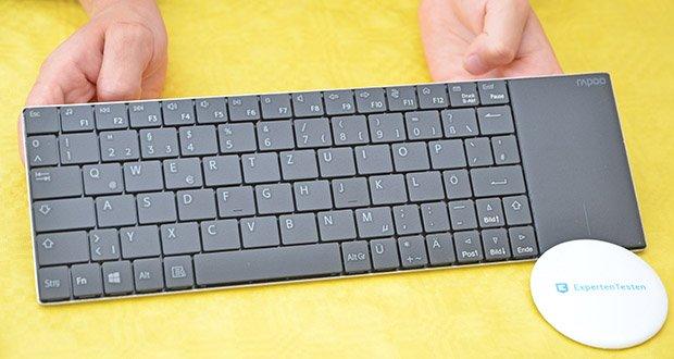 Rapoo E2710 kabellose Tastatur im Test - 80 Tasten mit Scherenmechanik