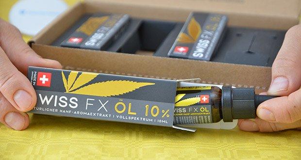 SWISS FX CBD Öl Set 5/10/15% im Test - geprüfte Qualität: Die Laboranalysen