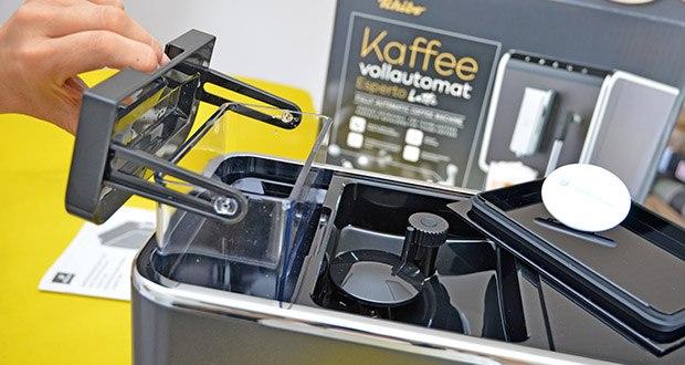 Tchibo Kaffeevollautomat Esperto Latte im Test - Fassungsvermögen Kaffeesatzbehälter: ca. 10 Portionen