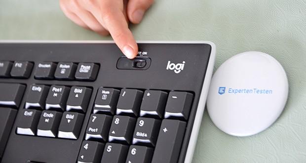 Logitech K270 Kabellose Tastatur im Test - mit vertraut angeordneten Tasten in Standardgröße inklusive Nummernblock und einer breiten und leicht gewölbten Leertaste