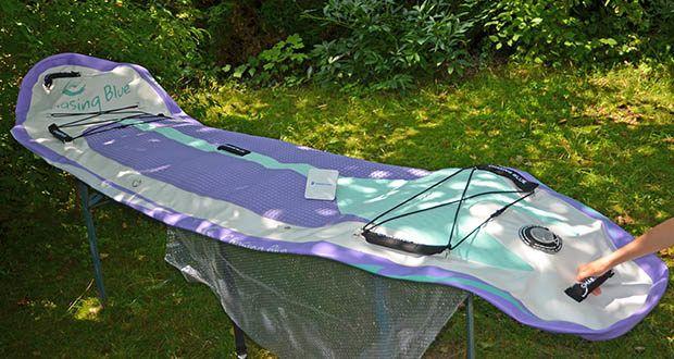 Outdoor Master Violet Spirit iSUP Board im Test - die 320 cm lang und 76 cm breit Board bietet eine einfache Fahrt und stetige Traktion für SUPer von allen Niveaus