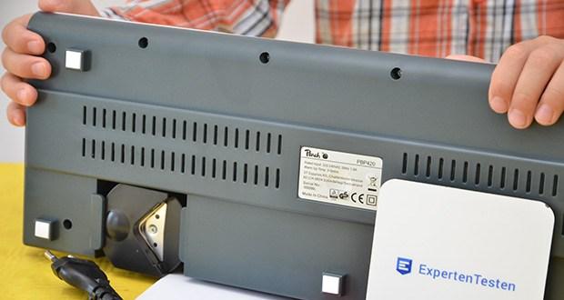Peach PBP420 Laminiergerät A3 im Test - Laminiergeschwindigkeit: 250 mm/min