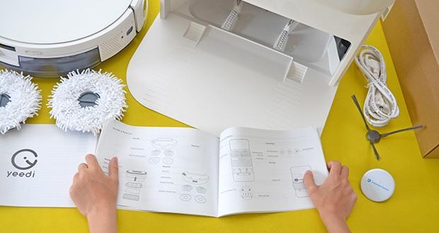 Yeedi Mop Station Roboter-Mopp im Test - die visuelle SLAM-Technologie in Kombination mit dem Bodenverfolgungssensor ermöglicht es dem Roboter, den Grundriss Ihrer Wohnung genau zu erlernen