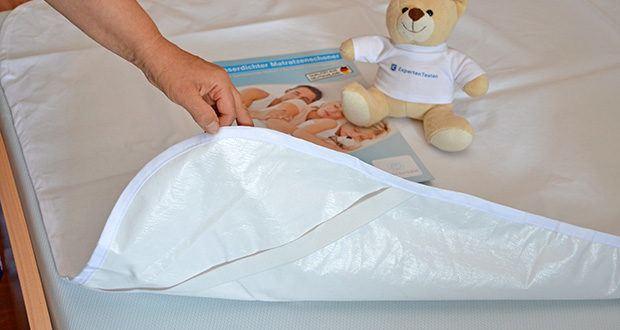 Rosenkern Matratzenschoner 90 x 200cm im Test - 100% wasserdicht und durch Molton-Schicht Atmungsaktiv für gutes Bettklima