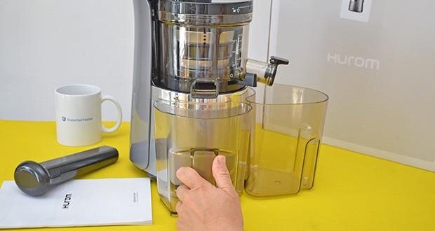 Hurom Slow Juicer S13 im Test - das Gefühl von Sicherheit durch einen Sicherheitssensor