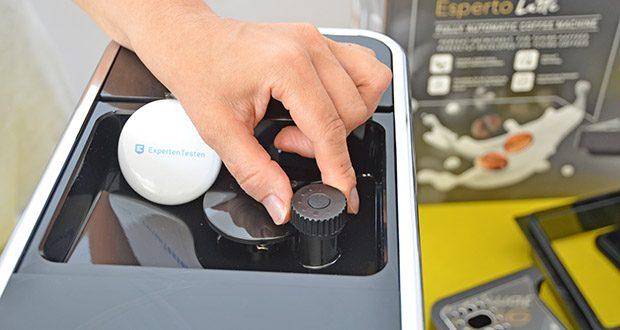 Tchibo Kaffeevollautomat Esperto Latte im Test - Mahlgradeinstellung: stufenlos