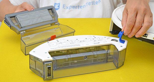 Yeedi Mop Station Roboter-Mopp im Test - verfügt über ein 200ml-Reservoir, um die Mopps sauber und nass zu halten