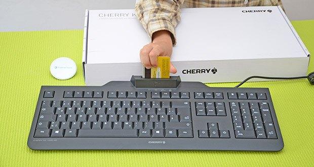 CHERRY KC1000 SC USB Security Tastatur im Test - intelligente, kabelgebundene security-tastatur mit integriertem Chipkarten-Terminal