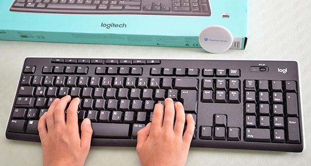 Logitech K270 Kabellose Tastatur im Test - die elegante Tastatur spart Platz, ohne Zugeständnisse beim Komfort zu machen