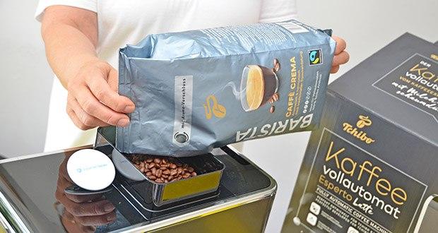 Tchibo BARISTA Caffè Crema Ganze Bohne 1 kg im Test - ist besonders gut geeignet für Kaffeevollautomaten, Siebträgermaschinen und Espressokocher