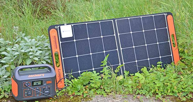 Jackery Faltbares Solarpanel SolarSaga 100 im Test - in Kombination mit Jackery Explorer Powerstation ergibt sich damit die perfekte Stromversorgung für unterwegs