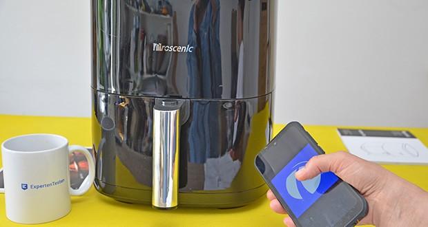Proscenic T22 Heißluftfritteuse im Test - kann mit der benutzerdefinierte Proscenic Home APP die Heißluftfritteuse zum Einstellen fernsteuern