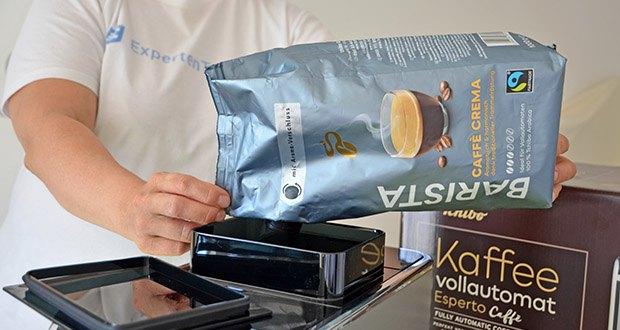 Tchibo BARISTA Caffè Crema Ganze Bohne 1 kg im Test - mit Aroma-Verschluss für optimale Aromafrische, ideales Dosieren und einfaches Wiederverschließen