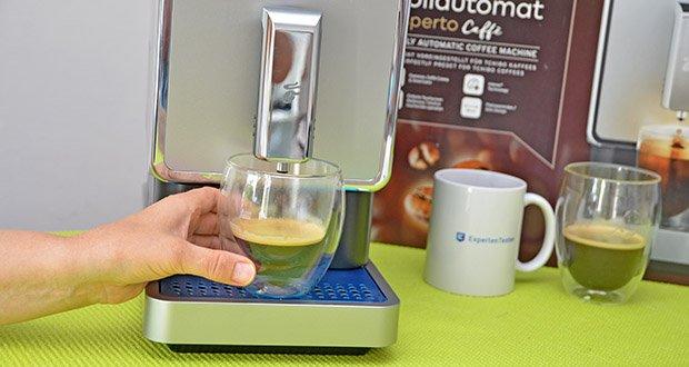 Tchibo Kaffeevollautomat Esperto Caffè im Test - Voreinstellung Brühmenge: Espresso ca. 40 ml, Caffè Crema ca. 125 ml, Doppio (ca. 80 ml Espresso bzw. 250 ml Caffè Crema)
