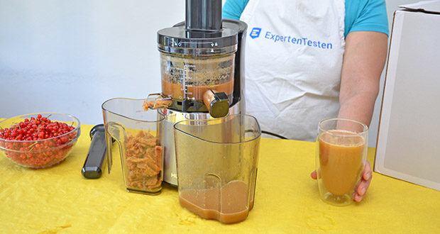 Hurom Slow Juicer S13 im Test - langsame Entsaftungstechnologie