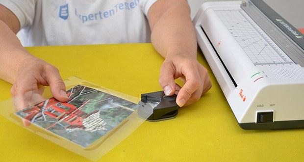 Peach PBP420 Laminiergerät A3 im Test - nicht nur für Dokumente geeignet, sondern auch für gedruckte Fotos, ID-Karten, Visitenkarten, Gepäckanhänger und mehr