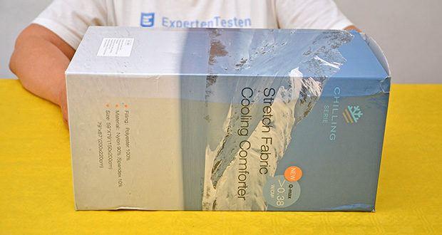 Elegear Arc-Chill Sommerdecke Kühldecke im Test - Arc-Chill Kühltechnologie stammt aus Japan und ist die einzige offiziell Kühltechnologie