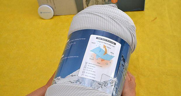 Elegear Arc-Chill Sommerdecke Kühldecke im Test - verwendet japanisches Arc-Chill Cool-Technologie (Q-Max Kühlbewertung mehr als 0,45)