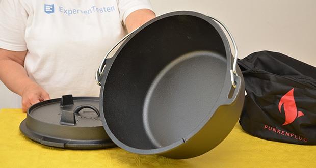 Funkenflug Dutch Oven im Test - mit einem Innen ø von 32 cm & einer Höhe von 14 cm