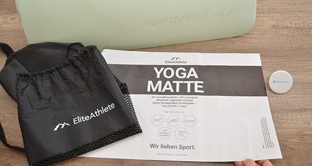 EliteAthlete Yogamatte im Test - 100% biologisch abbaubare Yogamatte mit einer hohen Verträglichkeit für Allergiker