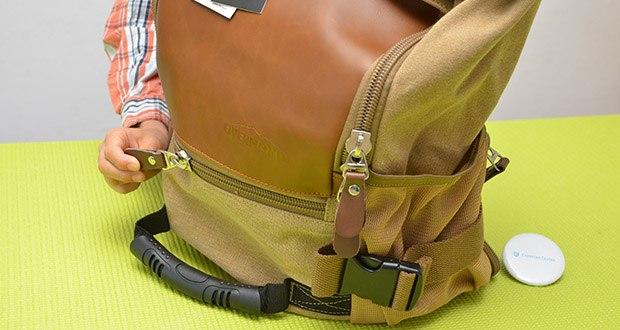 Overmont Vintage Wanderrucksack im Test - aus Baumwollstoff Segeltuch und PU-Leder gefertigt