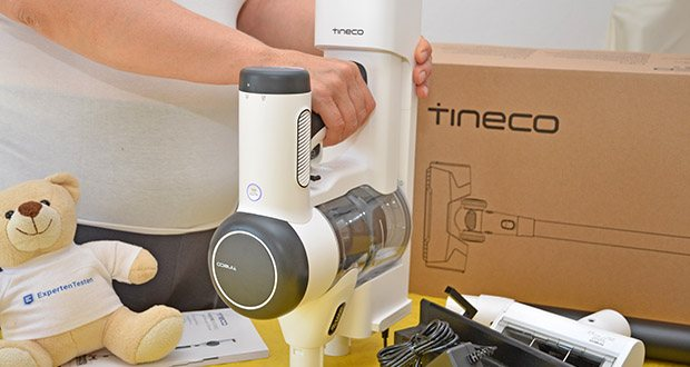 Tineco Akkustaubsauger Pure One X im Test - der leistungsstarke Lithium-Ionen-Akku benötigt nur ca. 3 bis 4 Stunden, um vollständig geladen zu werden, und liefert bis zu 70 Minuten Dauerbetrieb