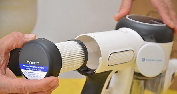 Tineco Akkustaubsauger Pure One X im Test - der 4-stufiger HEPA-Filter beseitigt 99,97 % der Allergene bis zu 0,3 µm