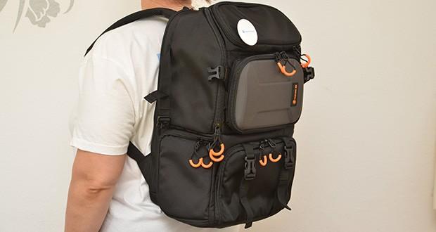 Tarion Kamerarucksack Fotorucksack im Test - die verdickte Schutzpolsterung im Rucksack ist stoßfest und verhindert Verformungen, um die Sicherheit Ihrer Kamera und Ihres Objektivs zu gewährleisten