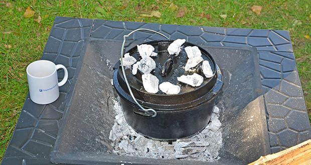 Funkenflug Dutch Oven im Test - massiver & dickwandiger Feuertopf aus hochwertigem Gusseisen