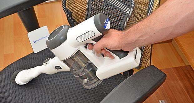 Tineco Akkustaubsauger Pure One X im Test - leiser Motor, geräuschmindernde Technik verringern den Lärm auf bis zu 70 Dezibel, ideal für Kinder und Haustiere
