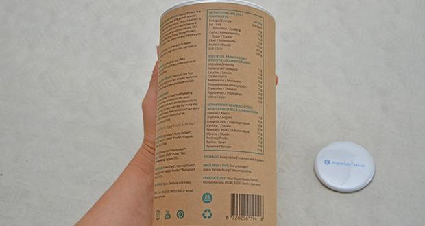 Your Super SKINNY PROTEIN Bio Proteinpulver im Test - Zutaten: Hanfprotein* (Rumänien), Erbsenprotein* (Spanien), Moringa* (Tansania), Spirulina* (Chile) and Alfalfa*(Deutschland) Pulver. *Aus ökologischer Landwirtschaft