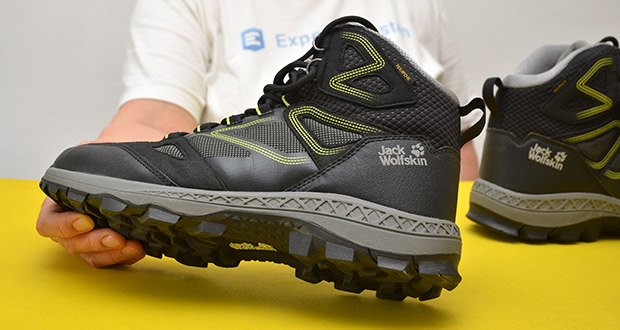 Jack Wolfskin Herren Downhill Texapore MID M Trekkingschuhe im Test - dank TEXAPORE-Membran hält der DOWNHILL TEXAPORE MID zuverlässig trocken