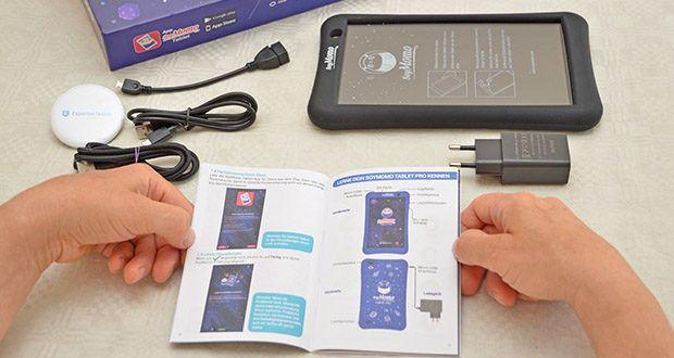 SoyMomo Tablet Pro im Test - Funktionen: Cybermobbing Detektor, Erkennung von unangemessenen Inhalten, Schulmodus, Remote-Screenshot, Fernsteuerung, Fernverriegelung, Website und App-Schutz, Google Play Store Apps, Nutzungszeiten, Werbeblocker, Blaulichtfilter