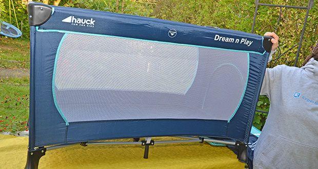 Hauck Babyreisebett Dream N Play Plus im Test - Sie haben Ihr Kleines durch die großen luftdurchlässigen Sichtfenster immer im Blick
